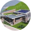 Villa con soluzioni ad alto irraggiamento solare