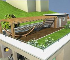 Costruzione di nuova villa unifamiliare con giardino pensile